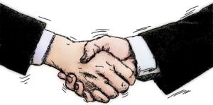 Att skriva avtal/komma överrens