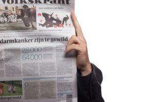 Tidning med nyheter